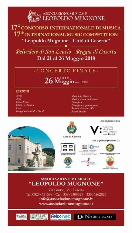 """17°-Concorso-Internazionale-di-Musica""""L.Mugnone""""-Città-di-Caserta"""